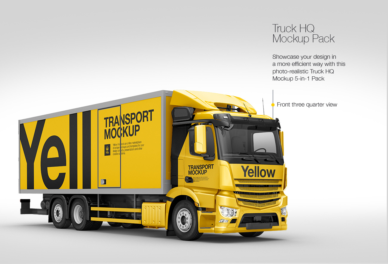 Truck HQ Mockup Pack: 5-in-1 Pack