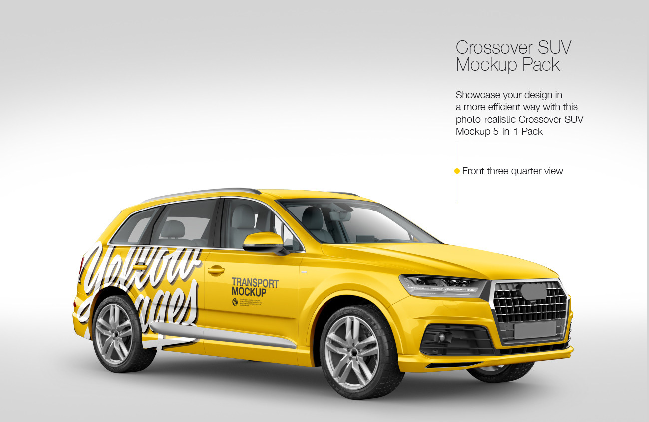 Crossover SUV Mockup Pack: 5-in-1 Pack
