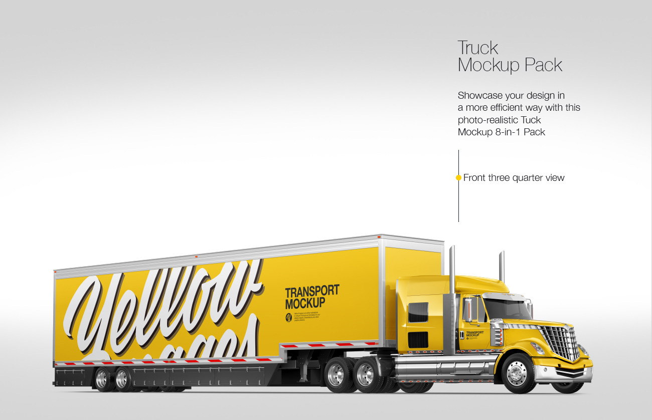 Truck Mockup Pack: 8-in-1 Pack