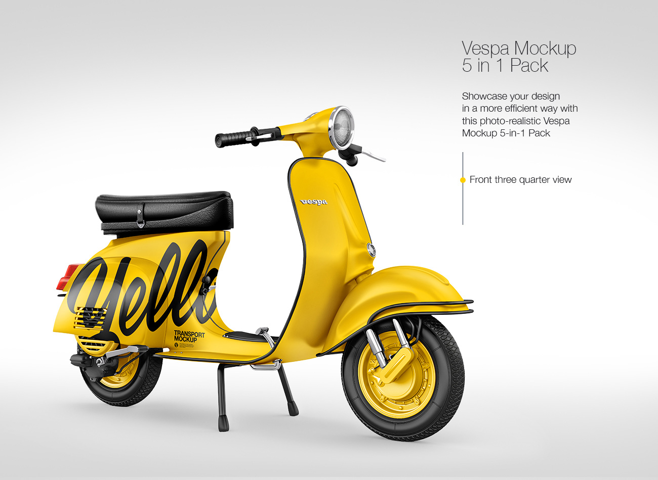 Vespa Scooter Mockup Pack: 5-in-1 Pack