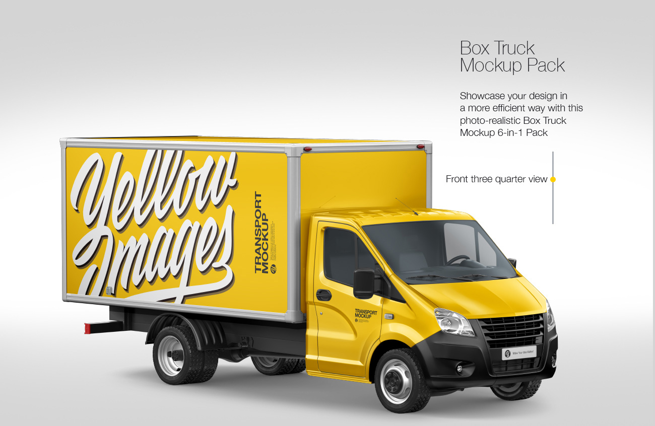 Box Truck Mockup Pack: 6-in-1 Pack