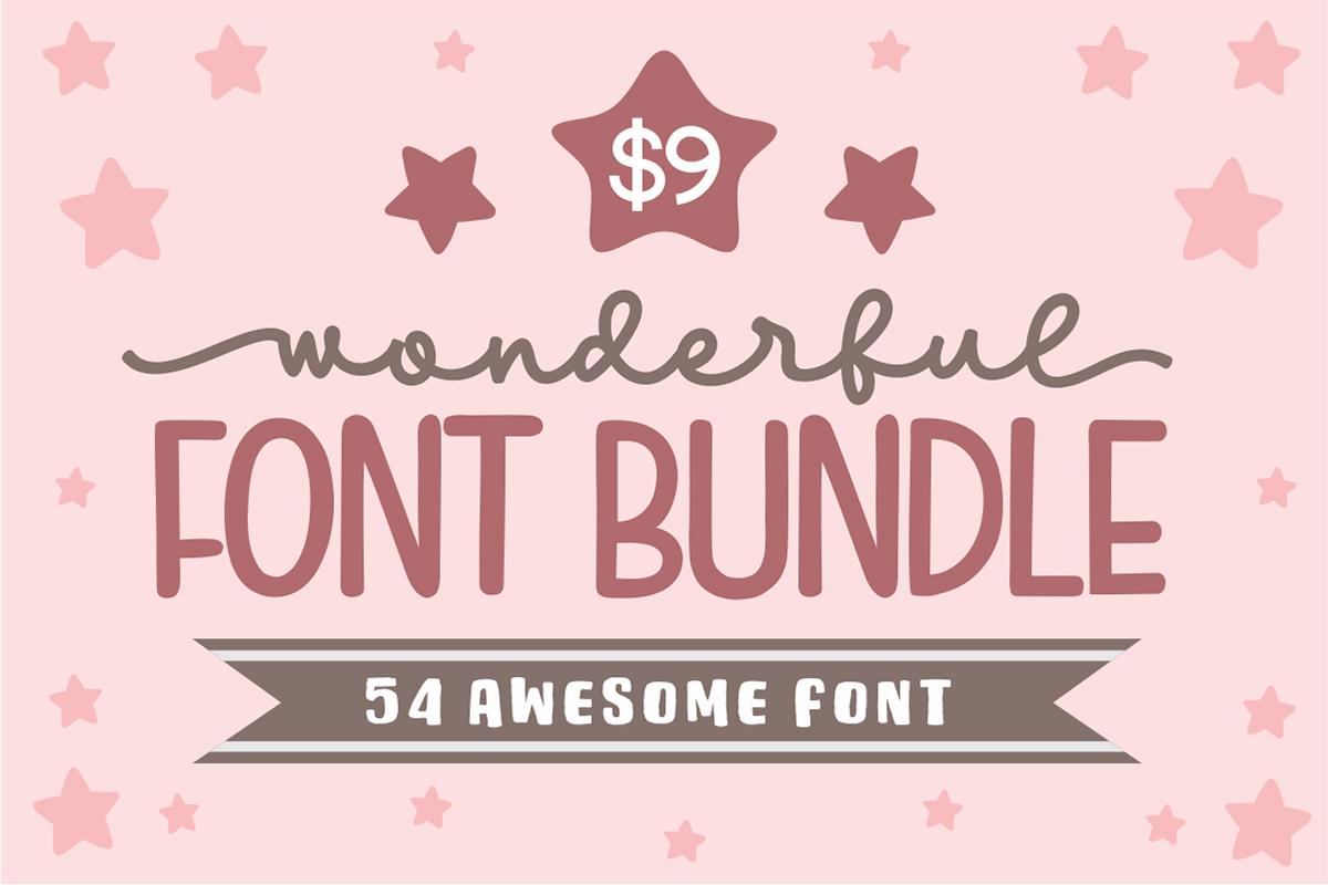 Wonderful Font Bundle: 54 Fonts